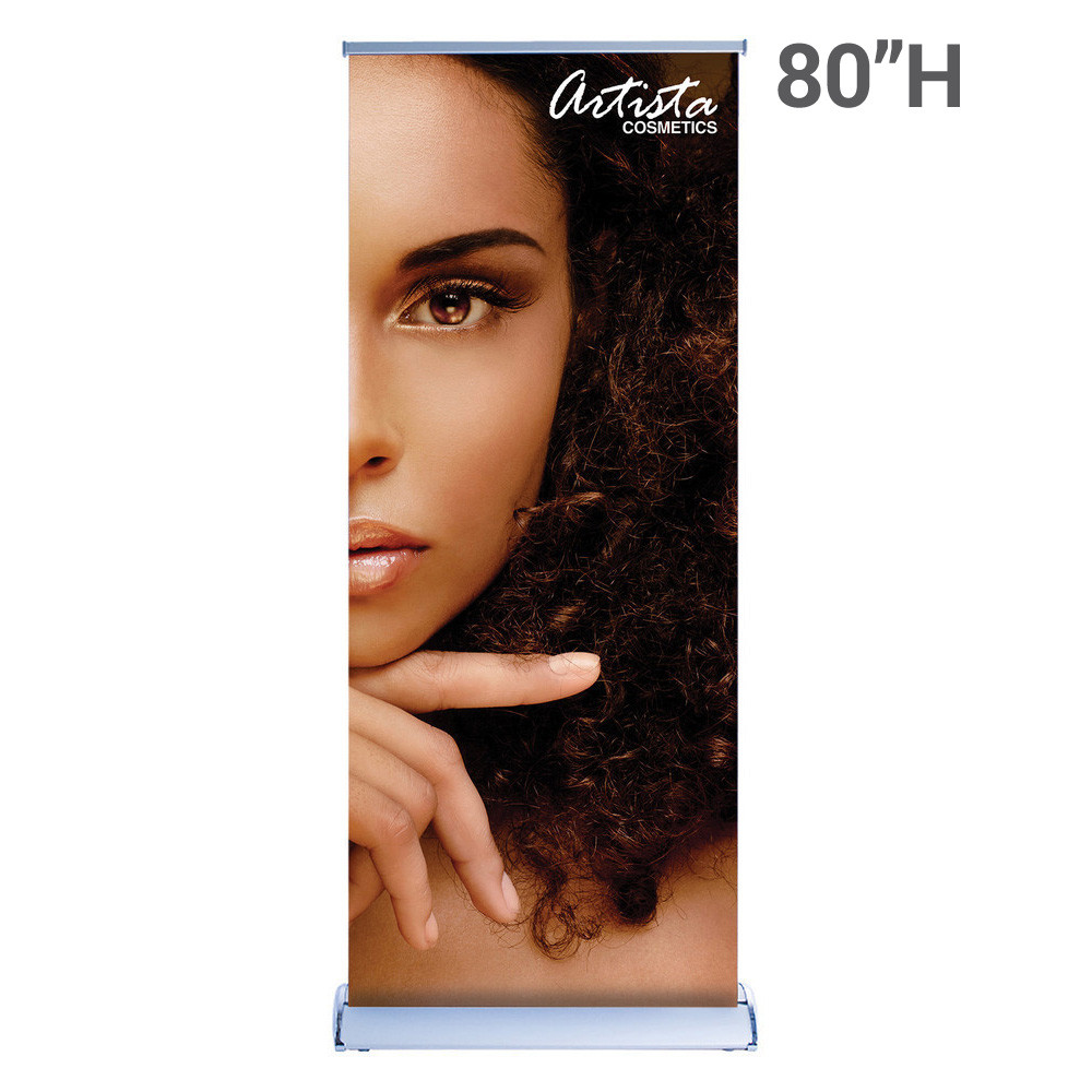 Double-Sided – 80″H Super Flat Graphic Package